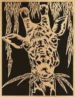 Scroll saw pattern  003 giraffe