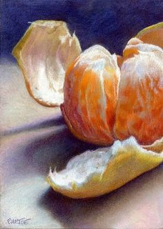 "Small 5 x 7"" colored pencil drawing. ""Clementine"" 