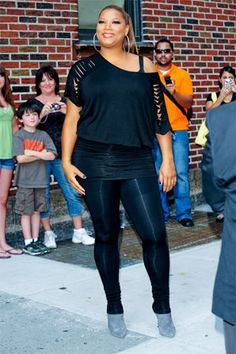 Queen Latifah. Standing fierce and proudly and radiant.
