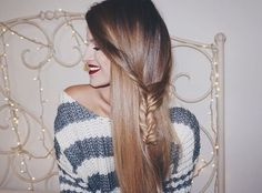 Karin Dragos || Fall Weather Calls For Cute Messy Braids. Karin Dragos, Beautiful Clothes, Beautiful Outfits, Messy Braids, Fall Weather, Cute Sweaters, Makeup, Instagram Posts, Hair