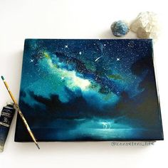 Art, drawing, and sky image の 画 像 cool art stuff watercolor art, art, paint Galaxy Painting, Galaxy Art, Art Aquarelle, Watercolor Paintings, Watercolour, Arte Obscura, Love Art, Art Inspo, Painting Inspiration