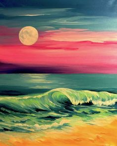 Calming and colorful - Come paint Cotton Candy Sky at Pinot's Palette!