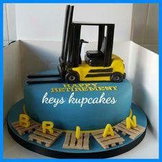 forklift cake #keyskupcakes