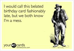 Birthday Happy PugBelated FunnyBirthday Wishes