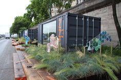 paris les berges 2013 - sleeping ZZZZ pods which you can rent for 40mins
