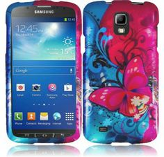 For Samsung Galaxy S4 Active i537 Design Cover - Butterfly Bliss