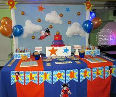Dragon Ball birthday party! See more party planning ideas at CatchMyParty.com!