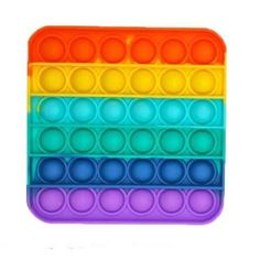"<h3 style=""text-align: center;"" data-mce-fragment=""1""><em data-mce-fragment=""1"">These dimples will restore calm and inner peace!</em></h3> <p data-mce-fragment=""1"">This Square Rainbow Fidget Popper is the latest sensory craze. Emotionally, these fidget tools provide great sensory interaction by helping to decrease anxiety, relieve stress, and restore the mood. Mentally and physically, they can exercise children's mathematical thinking, reasoning strategy, mental arithmetic, logical thinking…"
