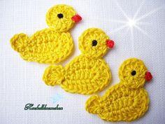 Crochet Applique Patterns Free, Crochet Bunny Pattern, Baby Knitting Patterns, Free Crochet, Crochet Appliques, Free Pattern, Crochet Girls, Easter Crochet, Crochet Cord