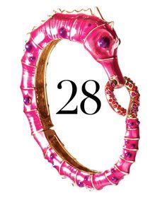 pink seahorse bangle