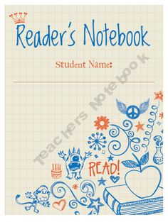 Reader's Notebook for kids and the TEACHER to use for tracking books and reading you enjoy.