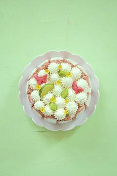 Charlotte à la noix de coco, citron vert & biscuits roses de Reims Biscuits Roses, Tupperware, Pie Dish, Food And Drink, Healthy Recipes, Healthy Meals, Baking, Fruit, Breakfast