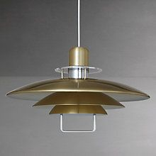 Buy John Lewis Felix Rise and Fall Pendant Light, Brass Online at johnlewis.com