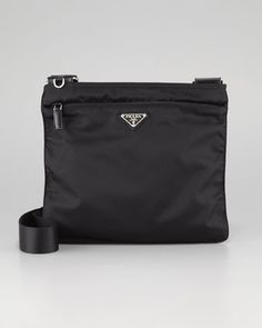 Vela Large Crossbody Messenger Bag, Nero by Prada at Bergdorf Goodman.