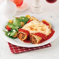 Manicottis aux saucisses et au fromage - Soupers de semaine - Recettes 5-15 - Recettes express 5/15 - Pratico Pratique