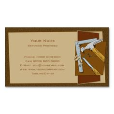 Carpenter business card template pinterest card templates carpenter business card cheaphphosting Gallery
