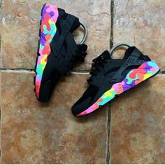 Quick Buy Nike Air Huarache Puzzle Piece Black Womens Shoes & Trainers to enjoy the Best Discount Prices. Sneakers Fashion, Shoes Sneakers, Haraches Shoes, Lit Shoes, Baskets Nike, Fresh Shoes, Hype Shoes, Nike Trainers, Casual Trainers
