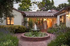 Model house modern home plans and house design on pinterest for Single story spanish style homes