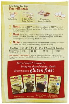 Betty Crocker Snackin Cake Mixes Ebay Daily Betty