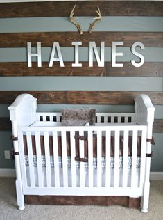 Rustic Alaskan Themed Nursery For Our Baby Boy Haines/Fawn Over Baby #babyboynursery