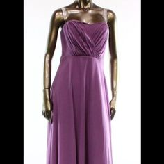 """NWTVera Wang Strapless Lavender Ball Gown This gown is stunning and exquisite like all other Vera wang items . This is brand new with tags and a size 2. It's 55"""" long , 16""""bust across,26""""waist. This gown is absolutely stunning I purchased for $400. Let me know if you have any questions. Thanks ladies❤️❤️ Vera Wang Dresses"""