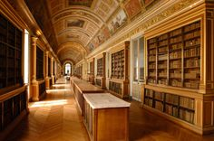 Gallery of Diana at Chateau Fontainebleau in Seine-et-Marne, France