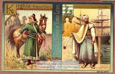 Male Clothing Levantiner And Kirgistan Russia 1898 Card
