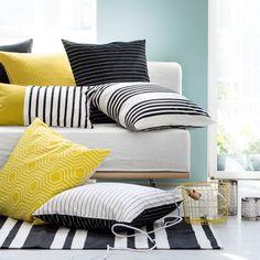 Coussins jaune H&M Home