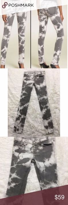 J Brand Cult Tie Dyed Skinny Slim Jeans 26 Inseam is 33 inches.  Waist is 30 inches, unstretched Excellent condition J Brand Jeans Skinny