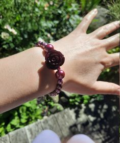 Wire Jewelry, Handmade Jewelry, Bracelet Sizes, Dark Purple, Pewter, Heart Shapes, Carving, Etsy Shop, Queen
