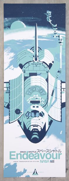 Space Shuttle Silkscreen design by Kevin Dart printed by Gray Area Print Poster Retro, Vintage Posters, Desenho Pop Art, Cool Posters, Space Posters, Nasa Posters, Vintage Space, Space And Astronomy, To Infinity And Beyond