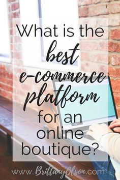 Ecommerce platform for your online boutique                                                                                                                                                                                 More
