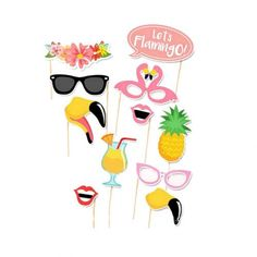 Wedding DIY Decoration Photo Booth Props Funny Mask Glasses Mustache Lip On A Stick Baby Shower Wedding Birthday Party Supplies - PhotoProps. Baby Shower Photo Booth, Photo Booth Props, Birthday Party Decorations, Flamingo, Snoopy, Selfie, Summer Baby, Mustache, Hawaii