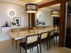 Sala de jantar   Luminaria   Buffet   Decoração   marcelasantiago.com.br