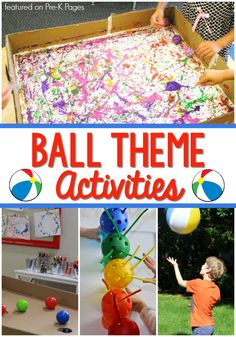 A collection of activities for a balls theme in your preschool or pre-k classroom. Activities for a ball unit to along with your TSG balls study. Creative Curriculum Preschool, Preschool Art Projects, Preschool Lesson Plans, Preschool Classroom, Classroom Activities, Preschool Crafts, Preschool Circus, Kindergarten Art, Circus Activities