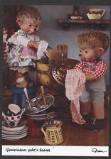AK Mecki original Diehl 449 Abwaschen Geschirr spülen Geschwister Haushalt Küche