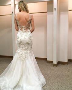 New York Bridal Fashion Week mermaid wedding dress back train gown bridal collection 2016 spring #wedding #bridal