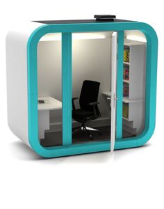 Office Pod Office Cubicle Design, Work Office Design, Workplace Design, Office Interior Design, Office Interiors, Open Office, Tiny Home Office, Sleep Box, Office Pods