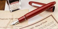 #wtf - Sailor Bespoke King of Pen Urushi! This Larger than Life, hand-crafted, crimson-lacquered ebonite beauty is ready to rule your pen collection. The 21kt Naginata-Togi nib complements the lustrous color and shine of this glorious writing instrument. View all the royal pictures at the Anderson Pens Blog. blog.andersonpens.com -- #fpn #fpgeeks #penaddict #fountainpenday #fountainpen #fountainpens #penporn #nibporn #handwriting #anderonpens #sailor #sailorkingofpen #sailorurushi