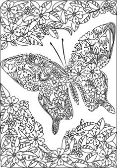 Free butterfly Mandala Coloring Pages. 30 Free butterfly Mandala Coloring Pages. Free Mandala Coloring Pages for Adults 3129 Adult Coloring Colouring Sheets For Adults, Coloring Pages For Grown Ups, Detailed Coloring Pages, Printable Adult Coloring Pages, Coloring Pages For Kids, Coloring Sheets, Kids Coloring, Butterfly Coloring Page, Flower Coloring Pages