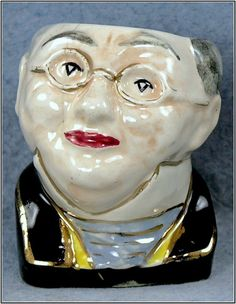 Ceramic England Lingard Character Face Egg Cup, c.1930's #LingardWebsterCoLtd