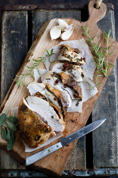roasted turkey breast with bacon and herbs