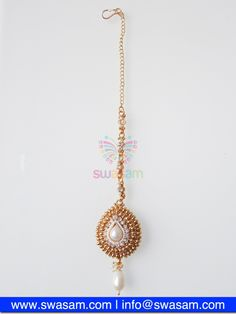 Indian Jewelry Store | Swasam.com: Tikka with Perls and White Stones - Tikka - Jewelry Shop to Buy The Best Indian Jewelry  http://www.swasam.com/jewelry/tikka/tikka-with-perls-and-white-stones-1445.html?___SID=U  #indianjewelry #indian #jewelry #tikka