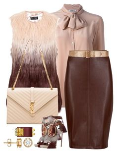 """""""Cute"""" by fashionkill21 ❤ liked on Polyvore featuring Cacharel, M&S Collection, Miss Selfridge, Prada, Yves Saint Laurent and Dsquared2"""