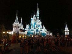 Cinderella Castle Evening View Thanksgiving 2016.