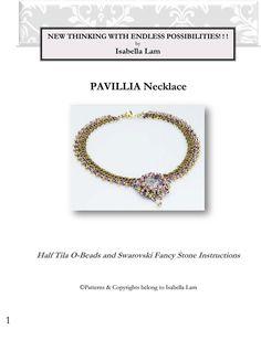 Tutorial PAVILLIA collana perline esclusivamente PDF perline solo per uso personale di bead4me su Etsy https://www.etsy.com/it/listing/220765170/tutorial-pavillia-collana-perline