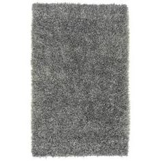 cool Hand-woven Gray Aphrodite Soft Plush Shag Rug (3'6 x 5'6)