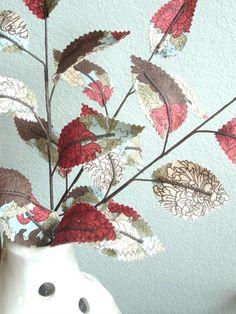 fabric leaves coleus (mint family)