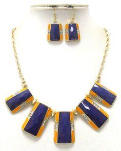 Purple and Yellow fashion statement set - $30