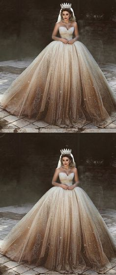 Bling Bling Wedding Dresses Tulle Ball Gowns Sweetheart Bride Dress Fully Sequins